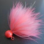 Dinger Jigs - Schlappen Lead - Shrimp & White