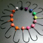 Bare steelhead jig heads - color wheel