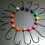 Bare steelhead jig heads - color wheel