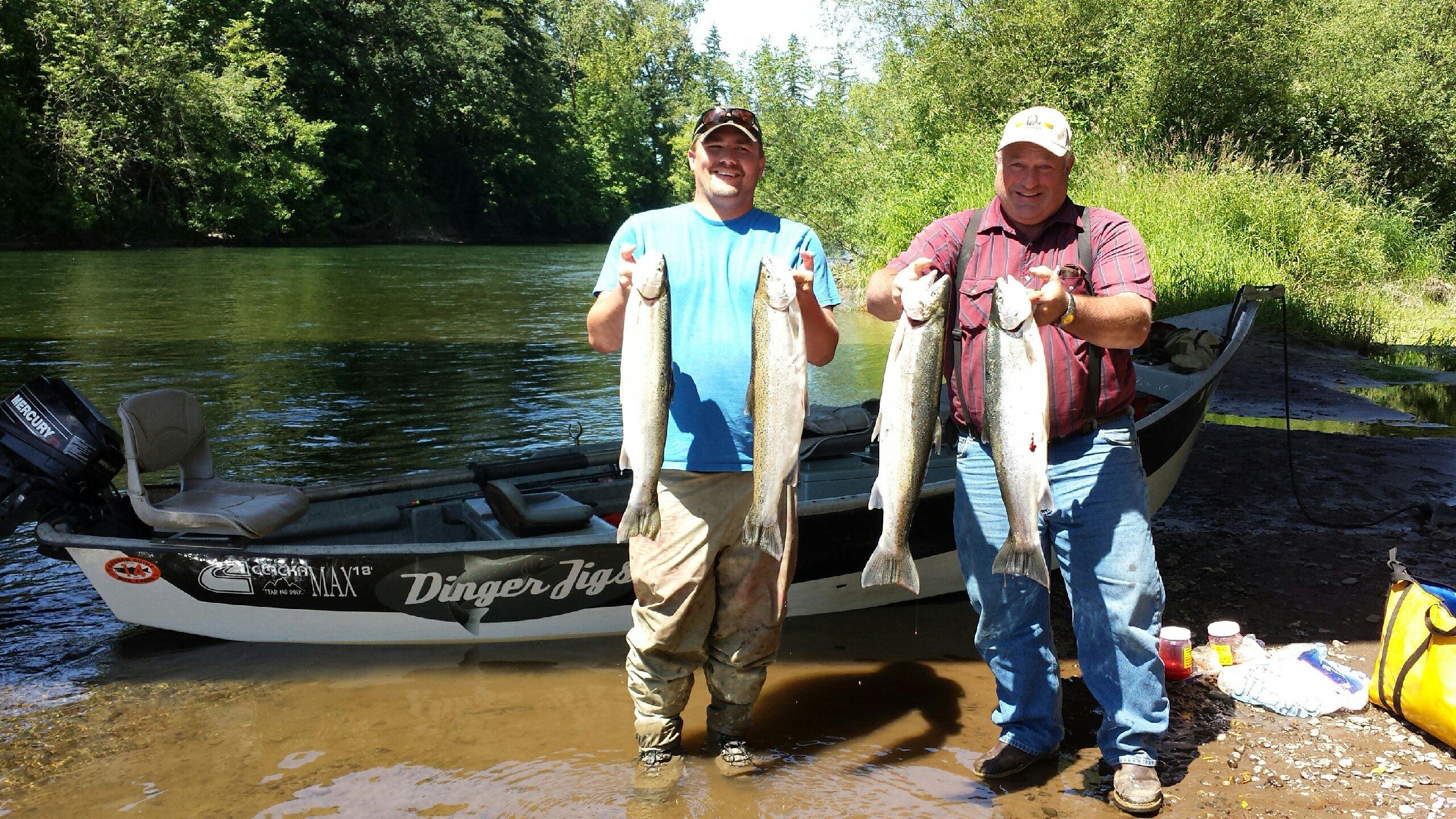 Matt halseth guide service for Siletz river fishing report