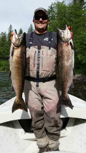 A great day chasing spring chinook with salmon marabou Dinger Jigs.