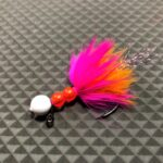 Dinger Jigs - Beaded Schlappen Brass - Hi-Viz