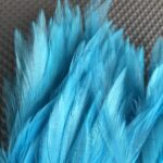 Hareline Dubbin - Silver Doctor Saddle Hackle - Dinger Jigs