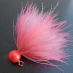 Dinger Jigs - Schlappen Lead - Shrimp & White