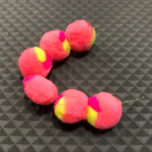 Shrimp Pink with a dot of Cerise and Chartreuse