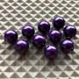 Brass Bead Heads - Metallic Purple
