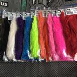 Hareline Dubbin Schlappen Color Lineup - Dinger Jigs